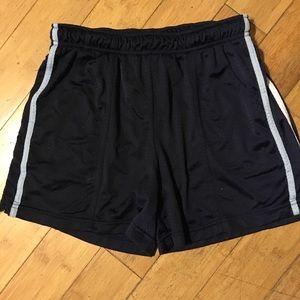Drawstring waist striped Athletic shorts